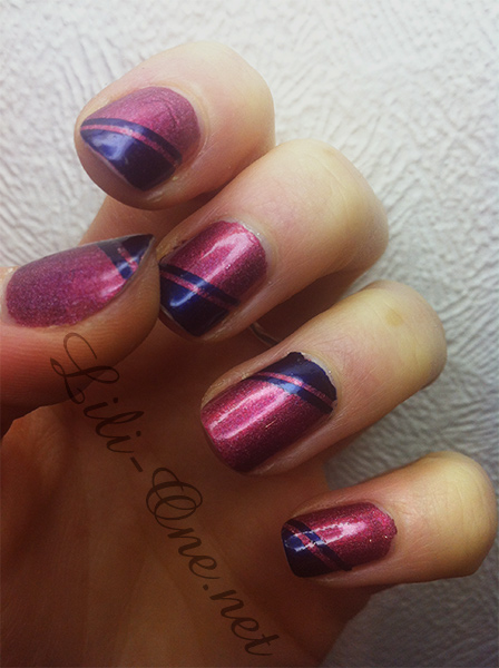 nailart au stripping tape 2