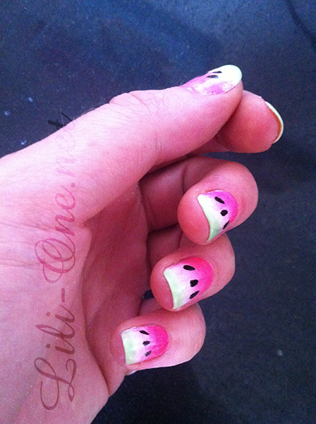 nailart pasteque